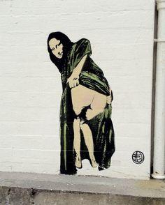 Mooning Mona Lisa in Stavanger.. . #streetart