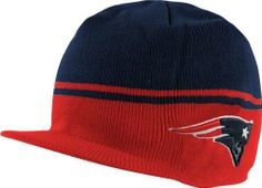2417c754473 Men s  47 Brand New England Patriots Powerback Visor Knit Hat One Size Fits  All by