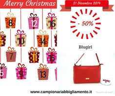 Borsa donna Blugirl in ecopelle a tracolla color corallo