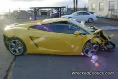 Lamborghini Gallardo crashed in Long Island, New York
