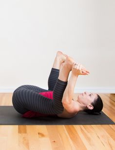 This relaxing stretch, similar to Half Happy Baby, will stretch tight hips and lower back, often common for runners and bikers.