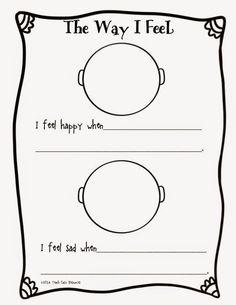 Classroom Freebies Too: Feelings Worksheet for Pre-K to 1