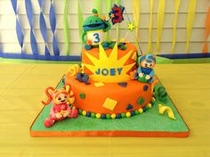 This is the cake I made for my sons 3rd birthday! it is Team Umizoomi! -Sandy Sweets