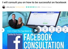 -Are you trying to use Facebook to promote your brand or business?  -Are you struggling to understand the fundamentals of how your Facebook page or Facebook Business Manager work?   During this gig, I will teach you EVERYTHING you need to know about Facebook Marketing during our one-on-one video consultation.   Why should you buy this gig? I have helped many companies in a wide variety of fields, from real estate agents and lawyers to e-commerce stores and startups, giving them strength... Facebook Business, Facebook Marketing, Social Media Marketing, About Facebook, Advertising Services, First Video, Estate Agents, Wild And Free, Lawyers