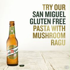 Why not try Tess Ward's mushroom tagliatelle infused with the rich taste of San Miguel Gluten Free – the perfect recipe to enjoy with friends. Wild Mushrooms, Stuffed Mushrooms, Stuffed Peppers, Gluten Free Pasta, Gluten Free Recipes, Tess Ward, Mushroom Pasta, Fresh Pasta, Bread Crumbs