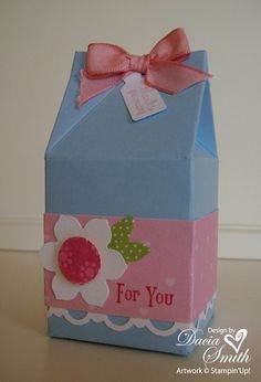 Mini Milk Carton Thank You