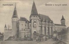 Vajdahunyad:vár bejárata a hiddal-Hunyad Castle, 1914 English Decor, British Isles, Barcelona Cathedral, Britain, United Kingdom, Taj Mahal, Past, Castles, England