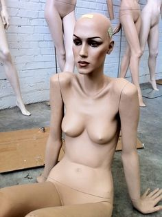 Sasha - in a reclining pose.    We sell gently used Rootstein mannequins at Mannequin Madness.com
