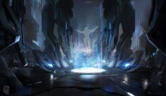 ArtStation - Halo 4 'Scanned' Trailer, by Maciej Kuciara.More concept art here. Sci Fi Environment, Environment Design, Sci Fi Comics, Futuristic City, Industrial, Artist Portfolio, Cyberpunk Art, Matte Painting, Art Google