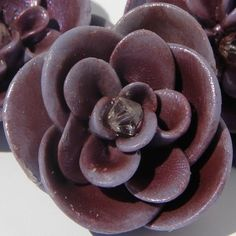 REDUCED Handmade Fimo Flowers/ Purple Set of 3 by JadedHopeChest, $4.00