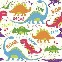 Kid Friendly Dinosaur Vector Illustration Pattern vector art illustration