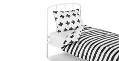 Iso Single 100% Cotton Bed Set, Mono | made.com