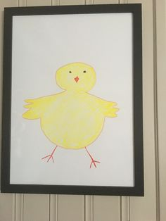 Easter drawing on notice board