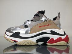 89a01b2ee631 Balenciaga Triple S 483523W06E11260 Silver Shoes 1 Silver Shoes