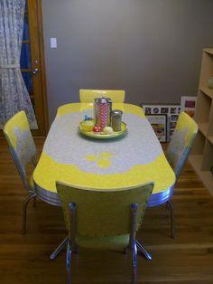 217 vintage dinette sets in reader kitchens. Retro tableVintage ... & Retro 50u0027s kitchen Laminex u0026 chrome table chairs stool restored ...