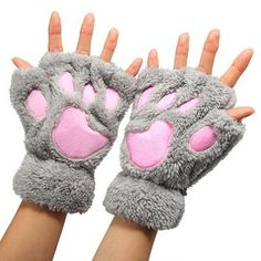0a292c0c2a5 black fingerless cat paw gloves