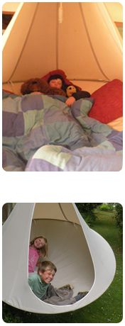 Love this for backyard sleep outs!