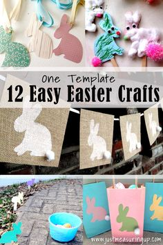 12 Easter Crafts that You Can Make with the Same Bunny Printable