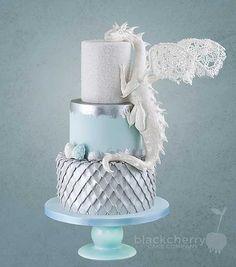 Game of Thrones dragon wedding cake from Black Cherry Cake Company