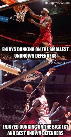 LBJ vs. MJ! - NBA Memes - http://weheartokcthunder.com/nba-funny-meme/lbj-vs-mj-nba-memes