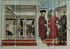 E' uno scontro tra il male di Giuda/Sigismondo Malatesta, nato nel 17 (1417), rappresentato con l'elefante nel turbante, ed il bene di Cristo e Bonconte, figlio naturale di Federico da Montefeltro, morto a 17 anni nel 1458, ritratto al centro in primo piano.