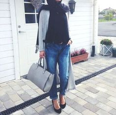 How to wear boyfriend jeans with hijab – Just Trendy Girls