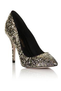 Little Mistress Gold glitter heels www.little-mistress.com