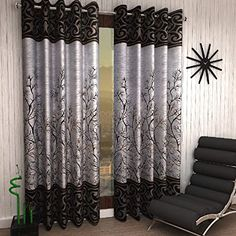 French Door Curtains, Curtain For Door Window, Window Curtains, Luxury Curtains, Cool Curtains, Sofa Reupholstery, Nursery Curtains, Curtains Living, Printed Curtains
