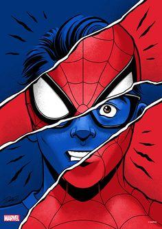 Spiderman Pictures, Spiderman Art, Amazing Spiderman, Marvel Fan Art, Marvel Heroes, Marvel Drawings, Avengers Wallpaper, Comic Art, Illustration