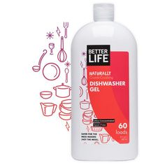 Better Life dishwasher gel powers through stubborn stains and stuck-on food, leaving no trace of film or cloudiness behind – just dazzlingly beautiful dishes. Dishwasher Cleaner, Dishwasher Detergent, Natural Cleaning Recipes, Natural Cleaning Products, Chocolates, Medical Packaging, Creative Poster Design, Project, Natural Cleaners