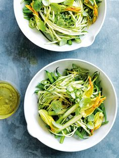 Zucchini, bean and green chilli slaw - Donna Hay Veggie Recipes, Salad Recipes, Healthy Recipes, Dessert Recipes, Donna Hay Recipes, Zucchini, Clean Eating, Green Chilli, Frijoles