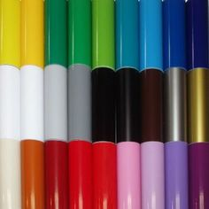 Adhesive vinyl for our die-cutting machines in a glorious selection of colors!