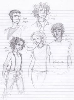 Reyna Ramírez-Arellano, Rachel Dare, Leo Valdez, Jason Grace & Piper McLean (Genderber) | art by burdge (Artwork)