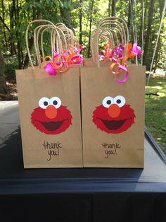 Elmo goody bags for girl birthday. …