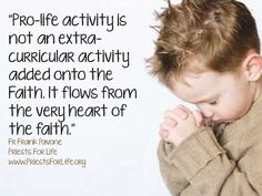 "https://flic.kr/p/p9zLPs | FF QUOTE 18 | ""Pro-Life activity is not an extra-curricular activity added onto the faith. It flows from the very heart of the faith"" #faith #prolife"