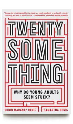 """Great book cover design. A perfect way to convey the image of being """"stuck"""" by framing the title with a maze. """"Twenty Something"""" design by Devin Washburn"""