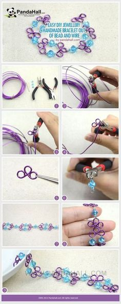 Jewelry Making Tutorial--Easy DIY Handmade Bracelet out of Beads and Wire | PandaHall Beads Jewelry Blog