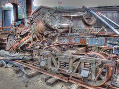 Scrap Yard, Roaring Camp Railroad. Felton CA.