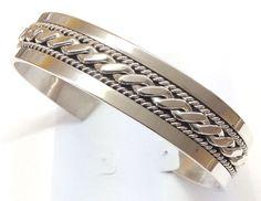 Native American Sterling Silver Indian Navajo 35.5 grams Cuff Bracelet CB090501 #NativeAmerican