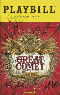 Natasha, Pierre & Great Comet Broadway Playbill SIGNED by Josh Groban & CAST | Entertainment Memorabilia, Autographs-Original, Theater | eBay!