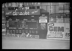 Ebbets Field Scoreboard 1950's Brooklyn Dodgers by Photoscream, via Flickr