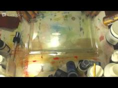 2nd Try. Haul and Mucking About, Gel Printing with Gelli Art Plate - YouTube