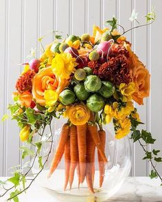Like the training greens, could we do a few of these? No carrots although it is cool.. LG [carrot bouquet]