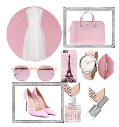 """pink"" by prettyfashionista03 ❤ liked on Polyvore featuring Polaroid, Colonial Mills, Diane Von Furstenberg, Gianvito Rossi, Blugirl, Sheriff&Cherry, Casetify, FOSSIL, Lime Crime and Jimmy Choo"