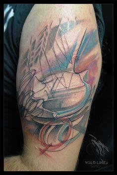 #wildlinestattoo #arttattoo #abstract #abstracttattoo #dododeer #dodac #dodactattoo #colortattoo #color #blacktattoo #tattoo #originaltattoos #original #art #tattrx #equilattera #cheyennetattooequipment #inked #ink #tattooboy#czechtattoo #pilsen #divadlopodlampou#freehand #freehandtattoo #folowtattoo Boy Tattoos, Line Tattoos, Black Tattoos, Free Hand Tattoo, Tattoo Equipment, Original Tattoos, Watercolor Tattoo, Tatting, Original Art
