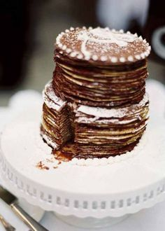 Crepe cake anyone? We think this is just one of the hot wedding trends you'll be seeing a lot more of in the future!