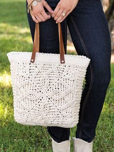 Crochet - Accessories - Handbags & Totes - Braided Cables Tote