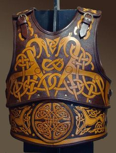 Viking leather chest protector