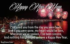 Happy New Year 2018 Quotes : QUOTATION – Image : Quotes Of the day – Life Quote happy new year wishes for son Sharing is Caring Happy New Year Quotes, Happy New Year Wishes, Happy New Year 2018, Quotes About New Year, Happy Quotes, Son Quotes, Wish Quotes, Sweet Love Quotes, Love Quotes For Him