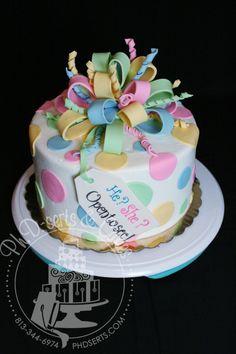Gender Reveal Cake…REVEALED! | Ph.D.-serts & Cakes